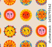 colorful abstract suns with... | Shutterstock .eps vector #1650795562