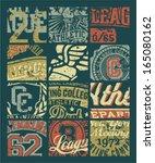 vintage athletic department ... | Shutterstock .eps vector #165080162