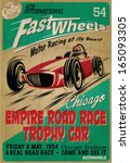 Vector Vintage Race Poster.