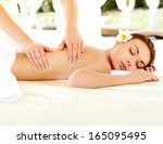 massage. close up of a... | Shutterstock . vector #165095495