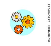gears icon for start up theme... | Shutterstock .eps vector #1650959365