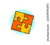 puzzle icon for start up theme... | Shutterstock .eps vector #1650959395