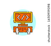 computer code icon for start up ... | Shutterstock .eps vector #1650959398