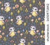 watercolor cute nursery naive... | Shutterstock . vector #1650971842