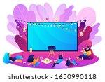 outdoor movie theater. bright... | Shutterstock .eps vector #1650990118