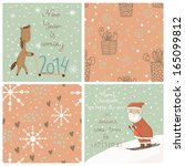 bright christmas vector set.can ... | Shutterstock .eps vector #165099812