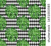 seamless vector pattern with... | Shutterstock .eps vector #1651003585