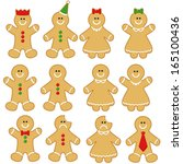 Gingerbread Man Clip Art Set....