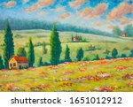 beautiful houses in flower... | Shutterstock . vector #1651012912
