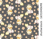 watercolor cute nursery naive... | Shutterstock . vector #1651040698