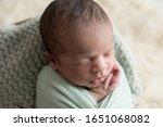newborn baby boy  sleeping and... | Shutterstock . vector #1651068082
