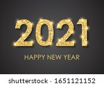 2021 happy new year text for... | Shutterstock .eps vector #1651121152