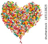 Colorful Candy Sprinkles Heart...