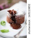 hot chocolate cake | Shutterstock . vector #165113852