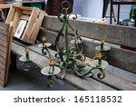 Old Chandelier At Flea Market...