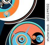 retro futuristic poster.... | Shutterstock .eps vector #1651199032