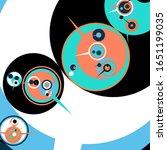 retro futuristic poster.... | Shutterstock .eps vector #1651199035