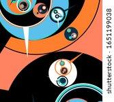 retro futuristic poster.... | Shutterstock .eps vector #1651199038