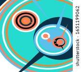 retro futuristic poster.... | Shutterstock .eps vector #1651199062