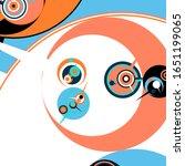 retro futuristic poster.... | Shutterstock .eps vector #1651199065