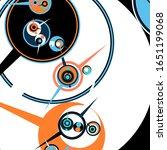 retro futuristic poster.... | Shutterstock .eps vector #1651199068