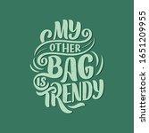 eco bag print for cloth design. ... | Shutterstock .eps vector #1651209955