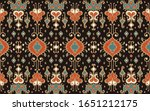 ikat geometric folklore... | Shutterstock .eps vector #1651212175