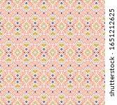 ikat geometric folklore... | Shutterstock .eps vector #1651212625