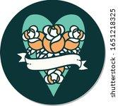 sticker of tattoo in... | Shutterstock .eps vector #1651218325