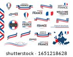 big set of french ribbons ... | Shutterstock .eps vector #1651218628