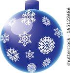 snowflake baubles | Shutterstock . vector #165123686