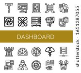 dashboard icon set. collection...