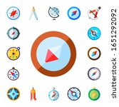 topography icon set. 17 flat... | Shutterstock .eps vector #1651292092