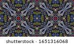 bandana print. women's shawl... | Shutterstock .eps vector #1651316068