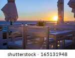 Outdoor Cafe On The Beach In...