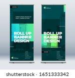 green business roll up banner.... | Shutterstock .eps vector #1651333342