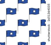 mapuche banner with star... | Shutterstock .eps vector #1651364035