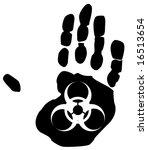 biohazard sign inside the print ... | Shutterstock .eps vector #16513654