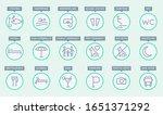 vector editable stroke line... | Shutterstock .eps vector #1651371292