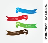 colorful infographic papers for ... | Shutterstock .eps vector #1651381852