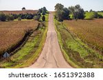 Hilly Country Road With...