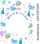 happy birthday greeting card... | Shutterstock .eps vector #1651397005
