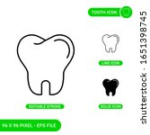 tooth icons set vector...