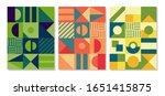 retro swiss graphic modernism ... | Shutterstock .eps vector #1651415875