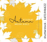 Autumn Maple Leaves Background...