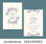 wedding invitation card... | Shutterstock .eps vector #1651454965