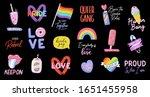 Colorful Lgbtq Pride Symbols...