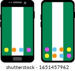 two black smartphones with a... | Shutterstock .eps vector #1651457962