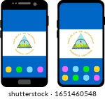 two black smartphones with a... | Shutterstock .eps vector #1651460548