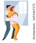 pregnancy preparing  wife and... | Shutterstock .eps vector #1651467172
